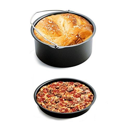 Antihaft-korb (ulable Air Pfanne Zubehör 5x Fritteuse Backen Korb Pizzateller Grill Topf-Untersetzer)