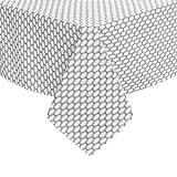 Deconovo Tischdecke Wasserabweisend Tischwäsche Tischtücher 130x220 cm Marokko Grau