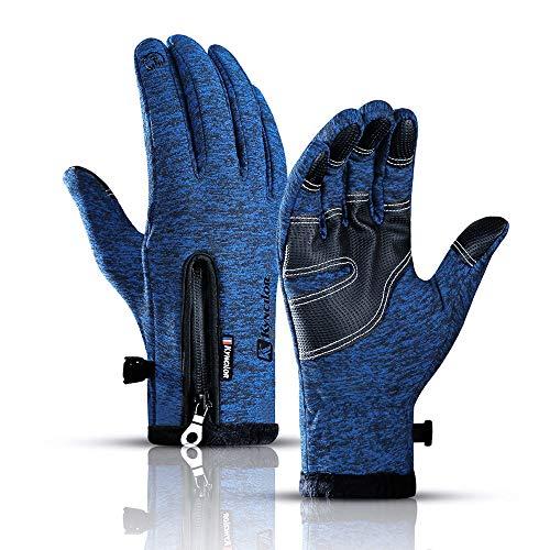 WEIERK Winter Männer und Frauen Sport Touchscreen Warme spritzwassergeschützte Fahrradhandschuhe