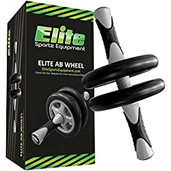 Elite sportz equipment Abs Wheel – Crossfit – Dual Ab Roller – Sanftes Training – Komplett vormontiert, Robust und Sehr Langlebig.