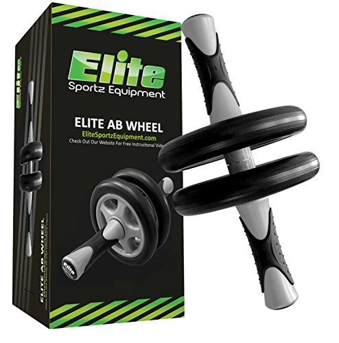 Elite Sportz Ab Roller – Bauchtrainer – abs wheels für Fitness-Training – Crossfit Trainingsgeräte – Komplett vormontiert