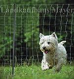 Netz-Set Mayer 25 Mtr. Grün für Hunde und Welpen für Auslauf, Training, Agility und Absicherung (292215+Easyclot+erdung+Zaunkabel+Zaunprüfer+Warnschild) - 4