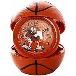 Foxtop Pequeño Reloj Despertador de Baloncesto para Niños Estudiantes, reloj de escritorio, reloj de mesa