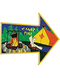 Scouting All Sections Arrow Shape Fun Badge Camp Fire - Collectors Item!