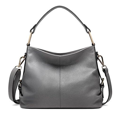 ZCJB Cross-Body Big Bag Lady Taschen Leder Schulter Messenger Bag Handtasche ( Farbe : Schwarz ) Grau