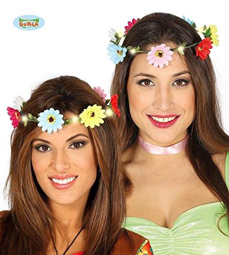 nz mit LED für Damen bunt Hippie Fasching Party Zubehör (Caesar Die Tollen Kostüme)