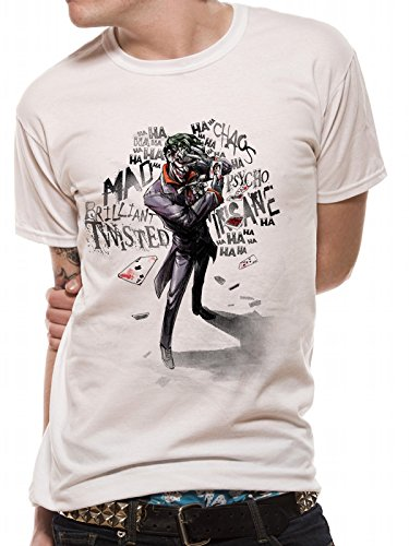 Batman Joker Insane, Camiseta para Hombre, Blanco White, Medium