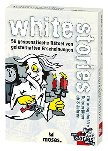 Moses black stories Junior white stories, 50 gespenstische Rätsel, Das Rätsel Kartenspiel für Kinder