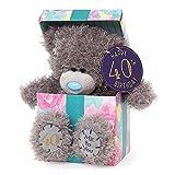 Me to You B01DDZ2614 40th Birthday Tatty Teddy Bear in Gift Box