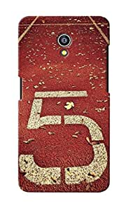 KnapCase Number Five Designer 3D Printed Case Cover For Micromax Canvas Fire 4G Q411