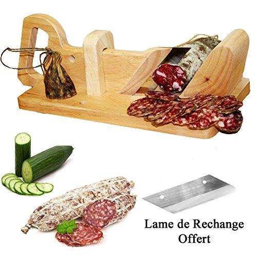 Guillotine à saucisson, Trancheuse à Saucisson & Lame de Rechange Offert