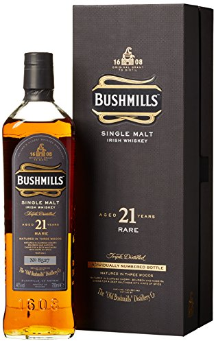 21 Jahre alter Bushmills Irish Single Malt Whiskey