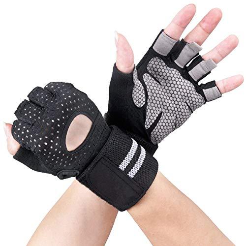 Avril Tian Sport Handschuhe, Trainings Gym Handschuhe mit Handgelenkbandage, Unterstützung für Powerlifting, Fitness, Bodybuilding, Best für Herren und Damen,XL
