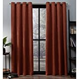 Best Home Fashion Blackout Curtains 100s - Exclusive Home Curtains Oxford Woven Blackout Grommet Top Review