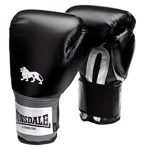 Lonsdale Pro Entrenar Guantes Punching Mitones De Sparring Accesorio Ropa Negro 16oz
