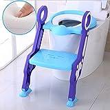 WC Leiter Stuhl Sitz Soft Padded Trainer Töpfchen Step Up Hocker Für Kinder,Blue