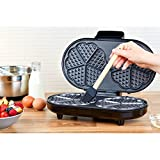 from Andrew James Andrew James Waffle Maker, 2 Slice Stainless Steel Waffle Machine, Adjustable Temperature,1200W, Non-Stick (2 Slice)