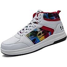 94c4b53bbd124 Yajie-shoes Zapatillas Altas de Moda para Hombre Zapatillas de Baloncesto de  Hip-Hop