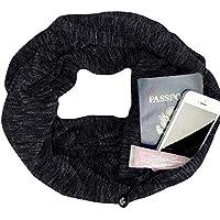LILICAT❋ Moda Peto Bufanda de Doble círculo en otoño e Invierno, Mujeres Sólido Invierno Convertible Infinity Scarf Pocket Loop Zipper Pocket Scarves