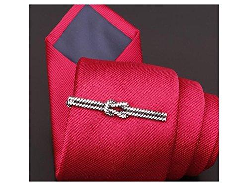 XeibD Elegant Mens Vintage Krawattenklammer Set Classic für Männer Krawattennadel Clip für Regelmäßige Krawatten (Silber)