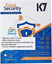 K7 Total Security Latest Version - 3 PC's, 1 Year (Email Delivery in 2 hours - No