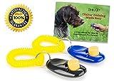 Klicker Für Hunde Inklusive Kostenfreiem eBook - Hundeklicker Training Set Für Hund Bestehend Aus 2 Clicker Mit  Handgelenkband - Perfekt Für Welpenerziehung, Hundeerziehung