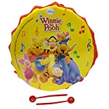 Musical Toy Marching Snare Drum Set for Kids Musical Instrument for Boys & Girls - Small Size 6 inches Diameter Disney Winnie Pooh Theme