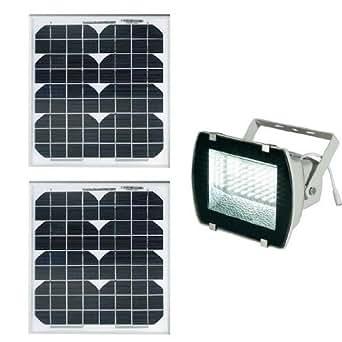 projecteur solaire puissant 54 leds 330 lumens panneau. Black Bedroom Furniture Sets. Home Design Ideas