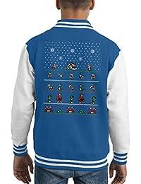 Chip N Dale Christmas Rangers Kid's Varsity Jacket