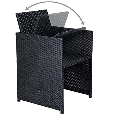 ESTEXO® Polyrattan - Sitzgruppe Serie Grünsfeld, schwarz, Rattan Gartenset von 512469 auf Gartenmöbel von Du und Dein Garten