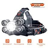 Headlamp Rechargeable, SUVOM LED Headlight 4 Modes LED Work Headlight Waterproof Head Torch