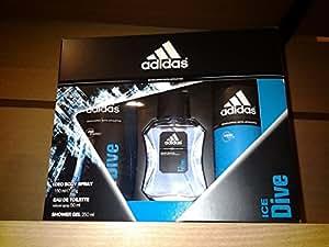 Adidas - Coffret Eau de Toilette 50 ml + Gel Douche 250 ml + Déodorant 150 ml - Ice Dive