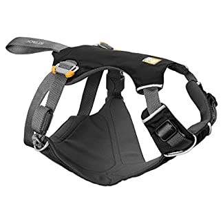 RUFFWEAR Car Safety Harness for Dogs, Miniature Breeds, Adjustable Fit, Size: XX-Small, Obsidian Black, Load Up Harness 23