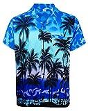 V.H.O. Funky Hawaiihemd, Kurzarm, Beach, MONOBLAU New, S
