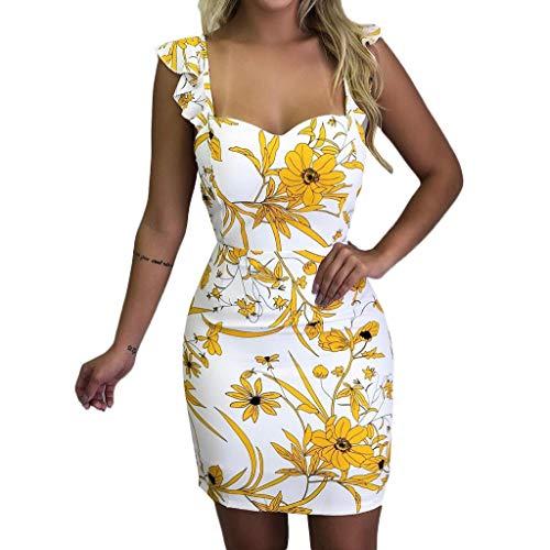 Mini Vestido de Playa para Mujer, sin Mangas, sin Mangas, con Cintura elástica...