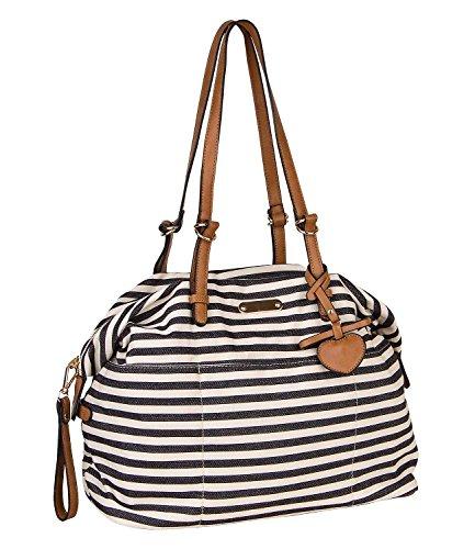 SIX - Damen Handtasche, Shopper, Weekender, schwarz-weiß (463-866) (Leder Kollektionen Aus Handtaschen)