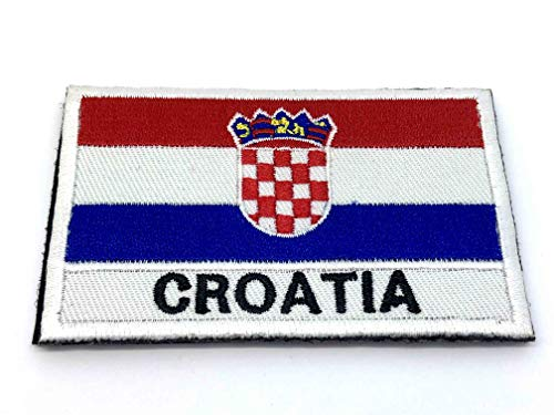 Croatie croate Drapeau brodé Airsoft Paintball Patch
