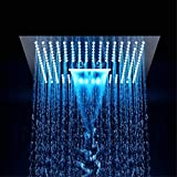 LED 400x400cm Plafoniera a soffitto 3 regolazioni regolabili Soffioni per il bagno Doccia a pioggia potente di lusso
