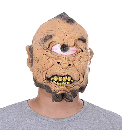 Uleade Halloween Maske One Eyed Scary Kostüm Ghost Cosplay Party Faule Gummi (Kostüm Die Säuberung Maske)