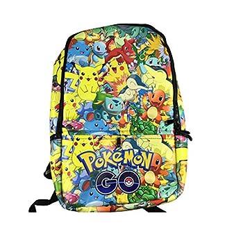 51ViDODnREL. SS324  - Mochila Pokemon Niños, Pokemon Go Pikachu Mochila Escolar Cuero de PU para Infantil y Niñas Unisex Bolsa Portátil para Mujeres Hombre Viaje Backpack para Estudiantes Adolescentes