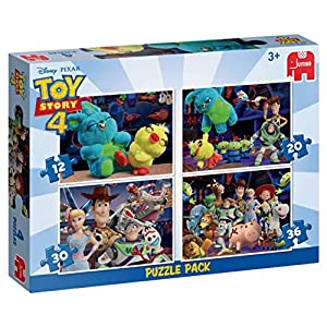 Disney ToyStory 4 4in1 Puzzle Pack Puzzle - Rompecabezas (Puzzle Rompecabezas, Dibujos, Niños, Niño/niña, 3 año(s), Interior)