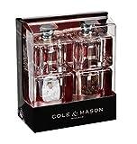 Cole & Mason H305418 Mini Cube Salz-/Pfeffermühlen Geschenkset aus Acryl, 90 mm