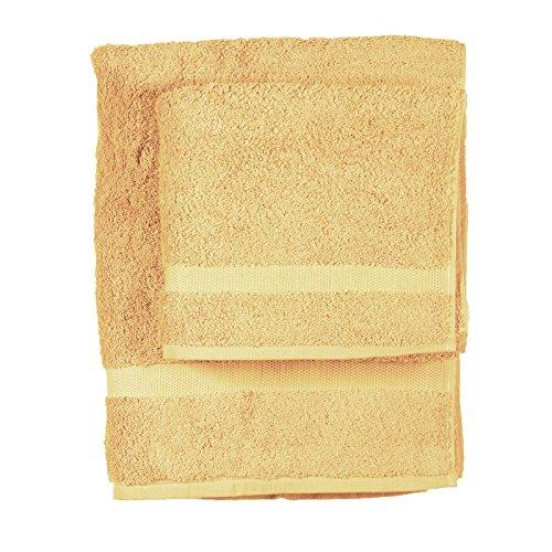 Asciugamano e ospite COGAL in spugna 650 grammi colore Giallo Crema 012