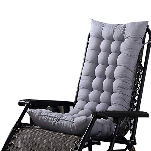 STARKWALL Urijk Garden Lounger Recliner Cushion Pad Replacement Deck Chair Cushion Rest Office Granulated Back Rocking Chair Padded Seats 8 110cm40cm