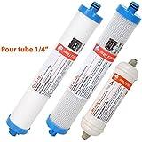 """Cartouches compatibles AC30 - Pack sédiment + charbon + post-charbon 1/4"""" - Crystal Filter®"""
