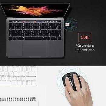Victsing Mini Schnurlos Maus Wireless Mouse 2.4g 2400 Dpi 6 Tasten Optische Mäuse Mit Usb Nano Empfänger Für Pc Laptop Imac Macbook Microsoft Pro, Office Home 5