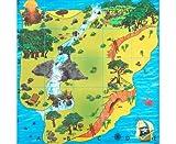 TTS Bee-Bot - Bodenmatte für Schatzsuchen - für Bodenroboter, Kinder Roboter, Bewegungsabläufe, Logikspiele - Lernroboter programmierbar Befehle Problemlösekompetenz Schule Grundschule Kindergarten