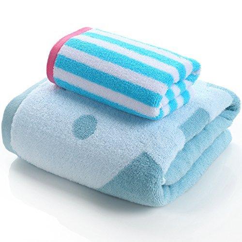 LISABOBO Bettwäsche Handtücher aus Baumwolle, Baumwolle erwachsene Kinder Anzug mehr verdickt,
