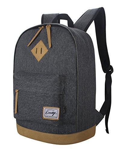 Imagen de ecocity clasico laptop backpack rucksack escolar  para portatil negro alternativa