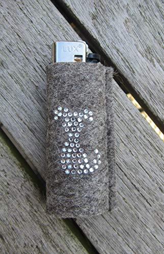 zigbaxx Feuerzeughülle DOG aus Woll-Filz mit Hund Hündchen aus Strass - für BIC Feuerzeuge und div. Einwegfeuerzeuge - Geschenk Hundefreund Hundebesitzer Hundeliebhaber (Strass-feuerzeug-hülle)